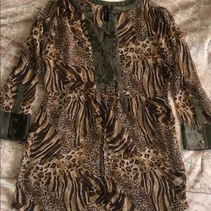BKE Boutique SZ M leopard sheer top from Buckle